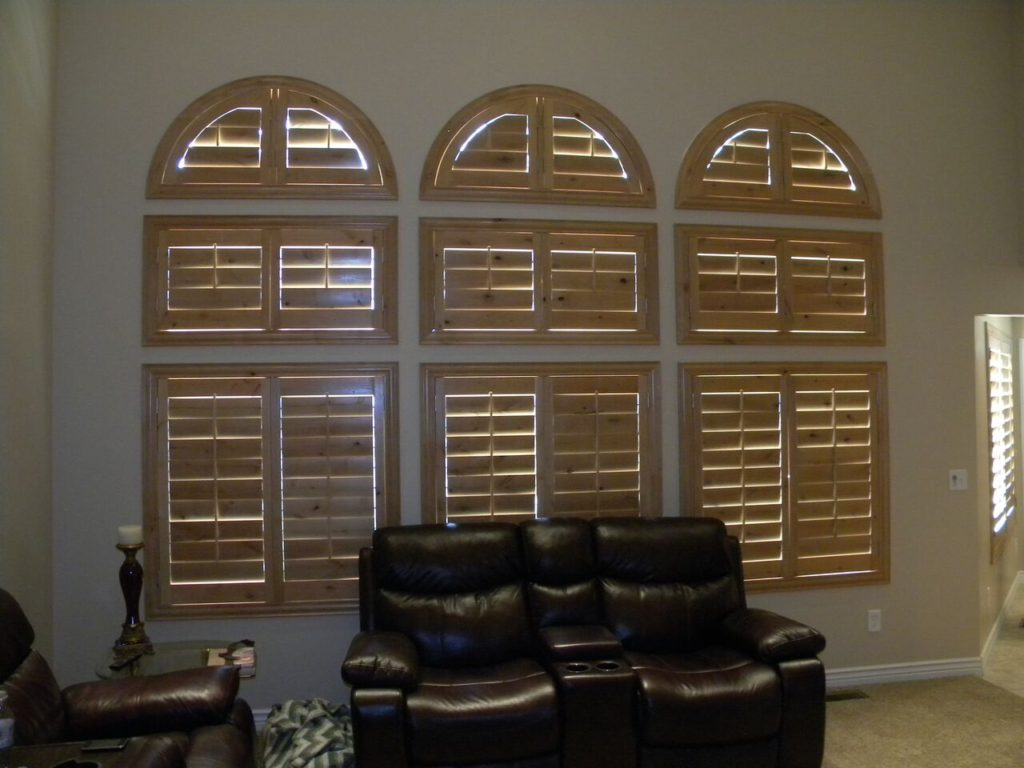 Mill Creek Shutters Custom 3 Arch Alder