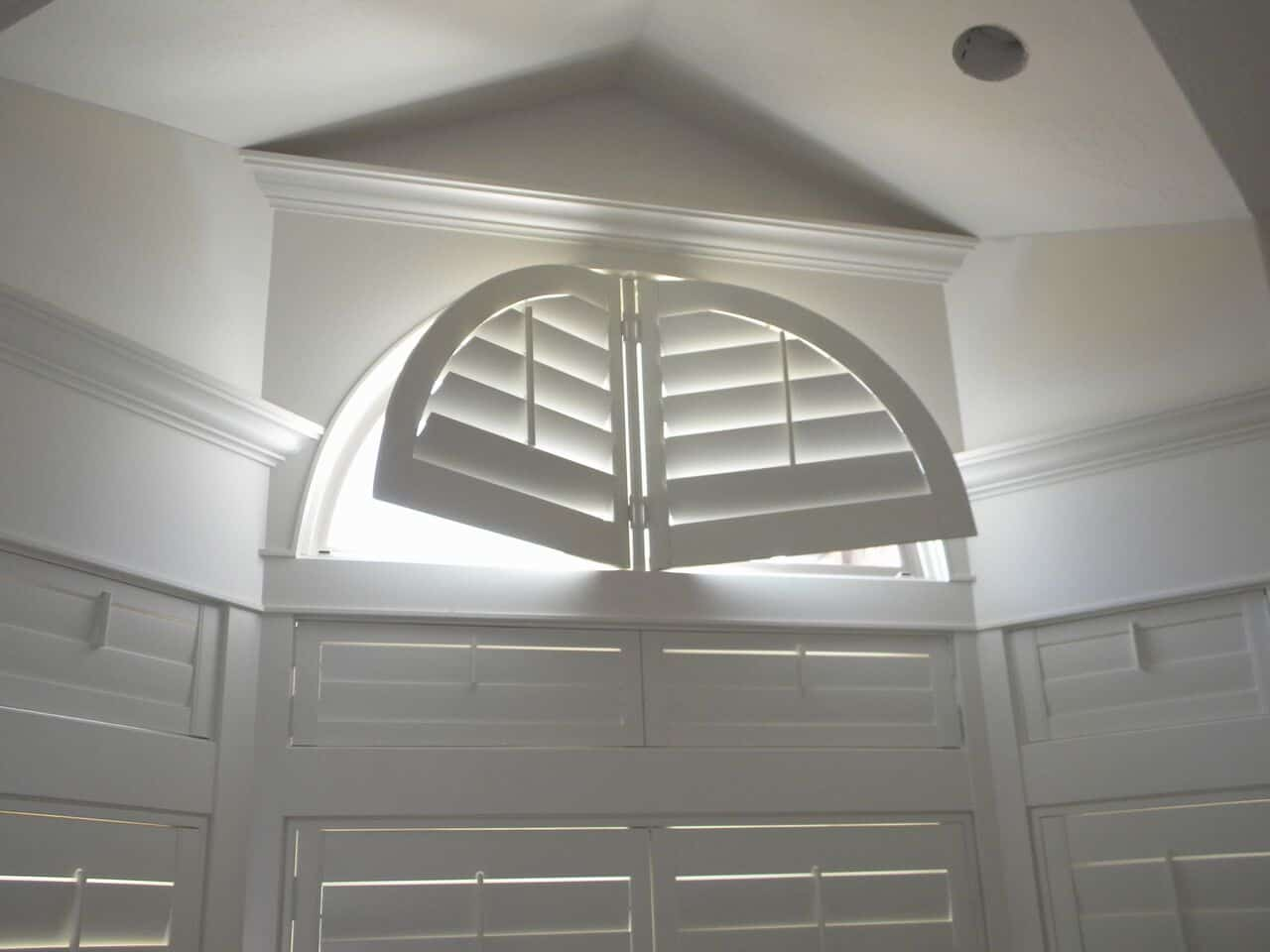 Mill Creek Shutters Custom Arch Window