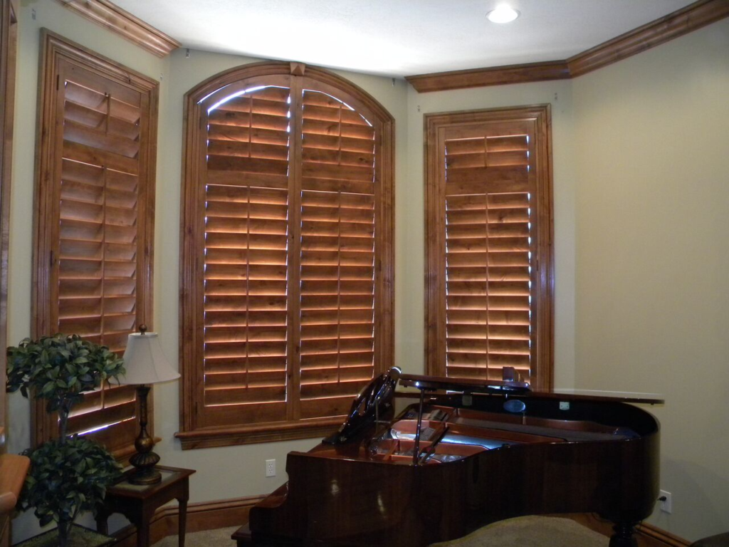 Mill Creek Shutters Custom Alder Arch