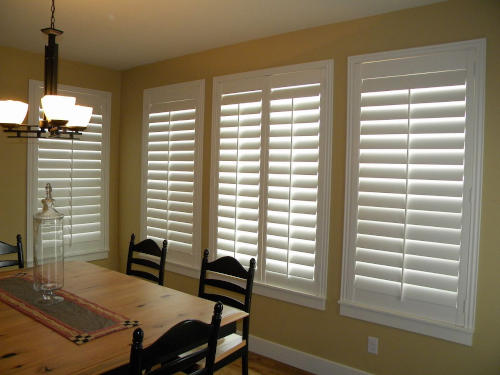 Mill Creek White Hinging Kitchen Shutters in South Jordan, UT